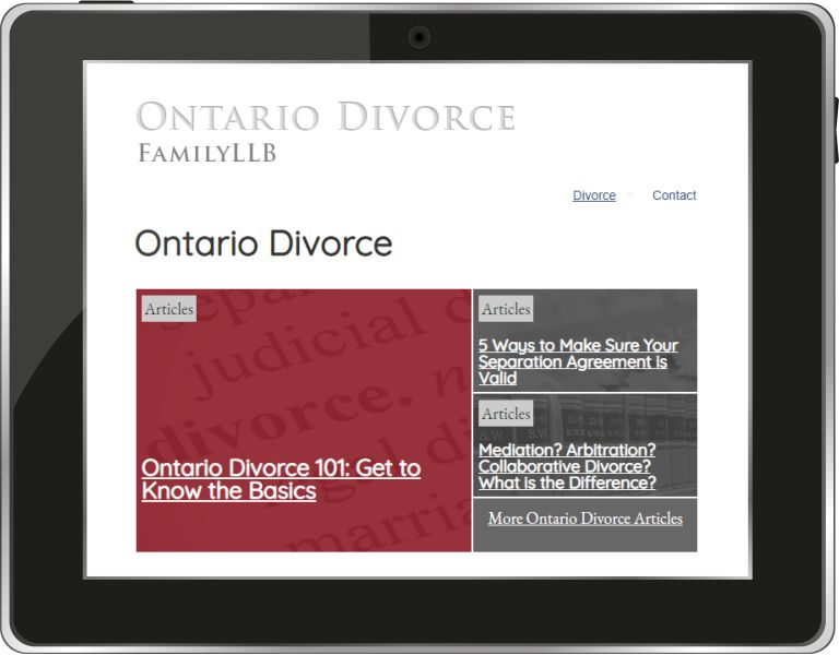 Ontario Divorce Blog